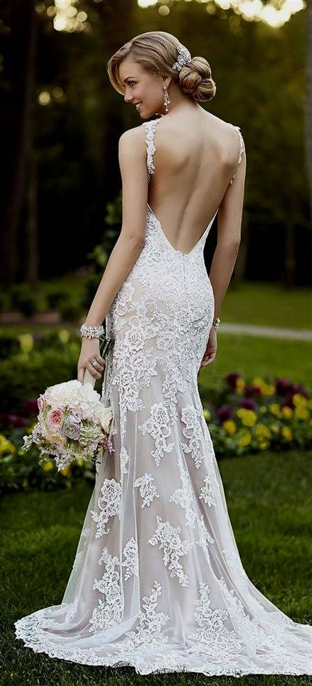 mermaid wedding dresses with lace back