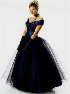midnight blue ball gown