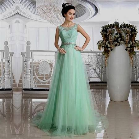 mint green lace wedding dress