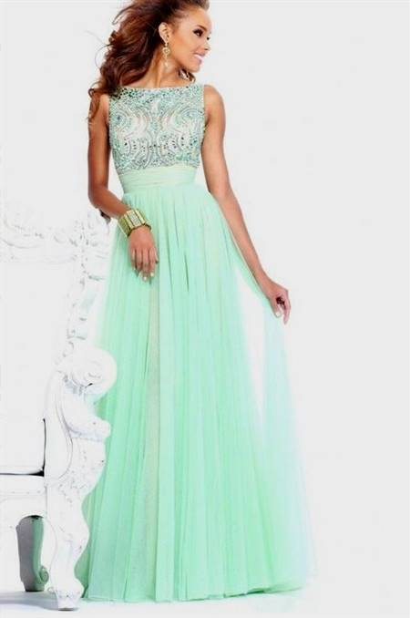 mint green prom dresses