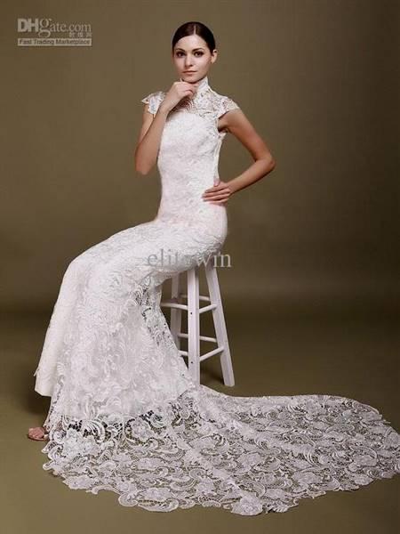 modern chinese white wedding dress