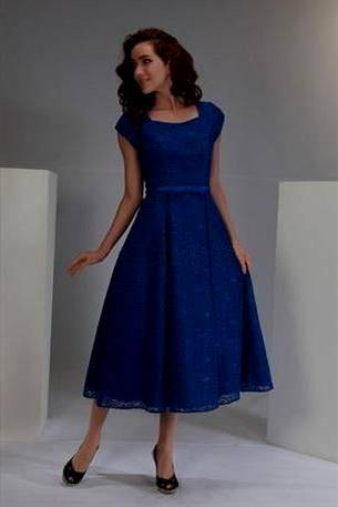 modest blue bridesmaid dresses