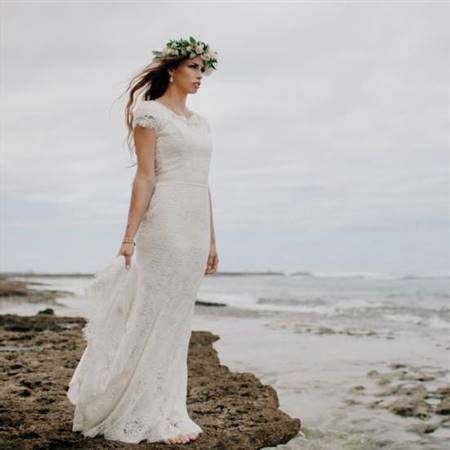 modest wedding dresses with cap sleeves