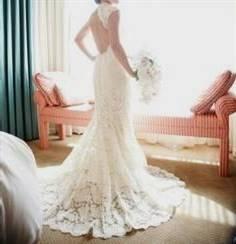 monique lhuillier scarlet french lace open back wedding