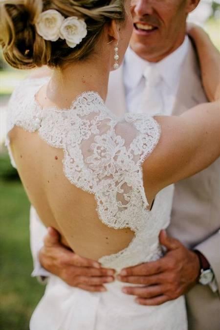monique lhuillier scarlet french lace open back wedding ...