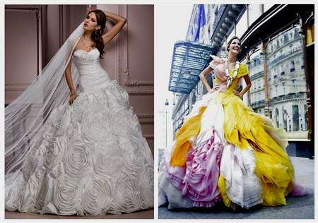 multi coloured wedding dresses