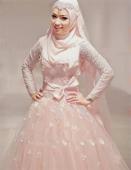 muslim wedding dress pink