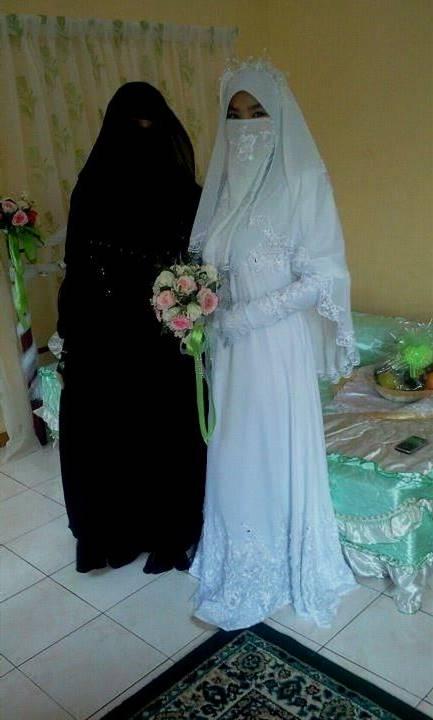muslim wedding dress with niqab