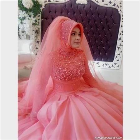 muslimah wedding dress pink