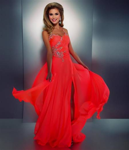 neon pink homecoming dresses