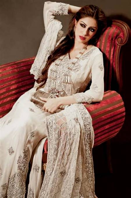 pakistani bridal dresses in red and white