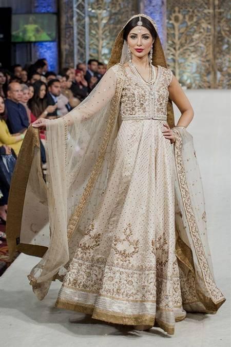 pakistani bridal dresses white