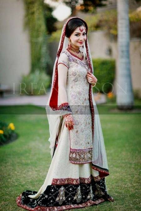 pakistani white bridal dress