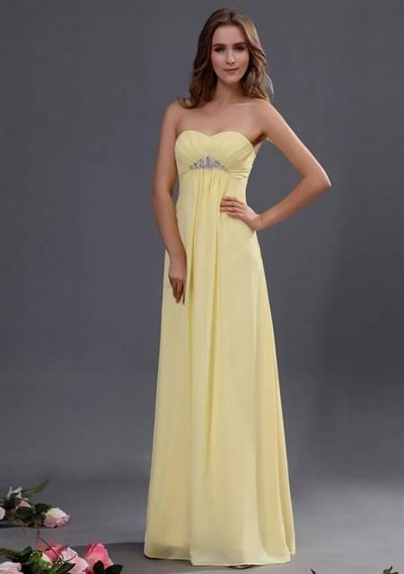 pale yellow bridesmaid dresses