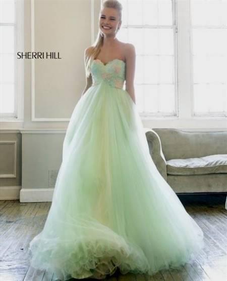 pastel green prom dress