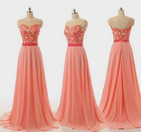 peach lace bridesmaid dresses