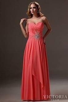 peach prom dress