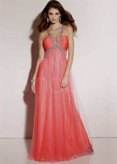 peach prom dresses