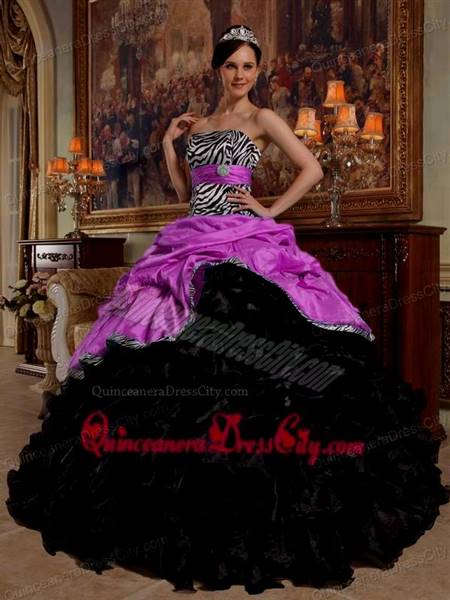 pink and black ball gown