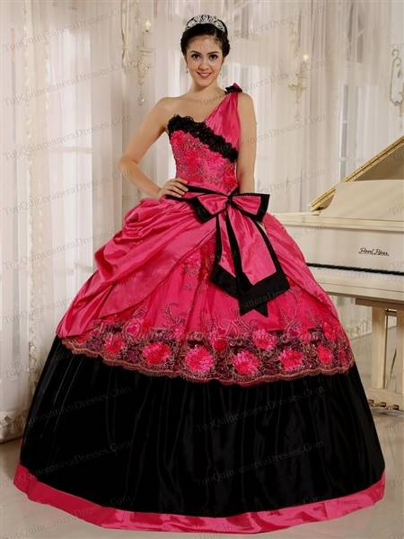 pink and black gowns