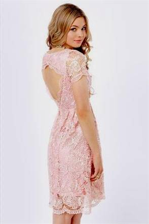 pink dresses with lace