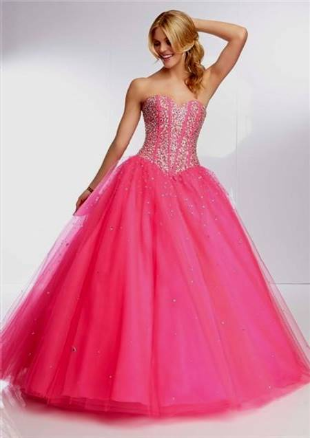 pink gowns for prom