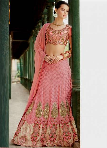 pink indian bridal dresses