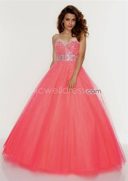 pink lace ball gown