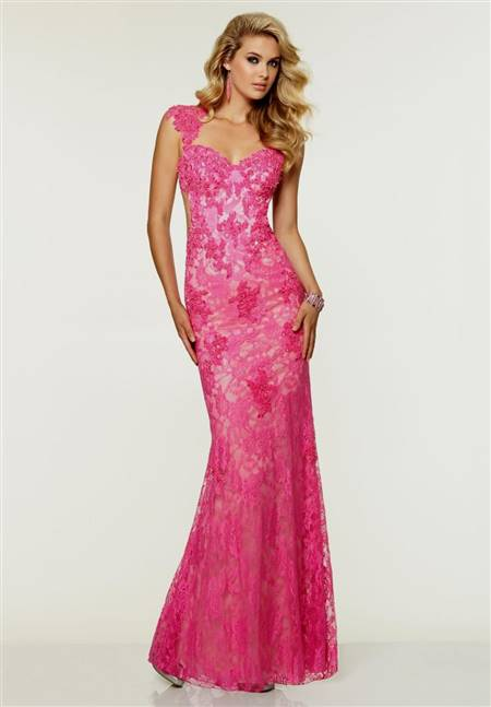 pink mermaid prom dresses