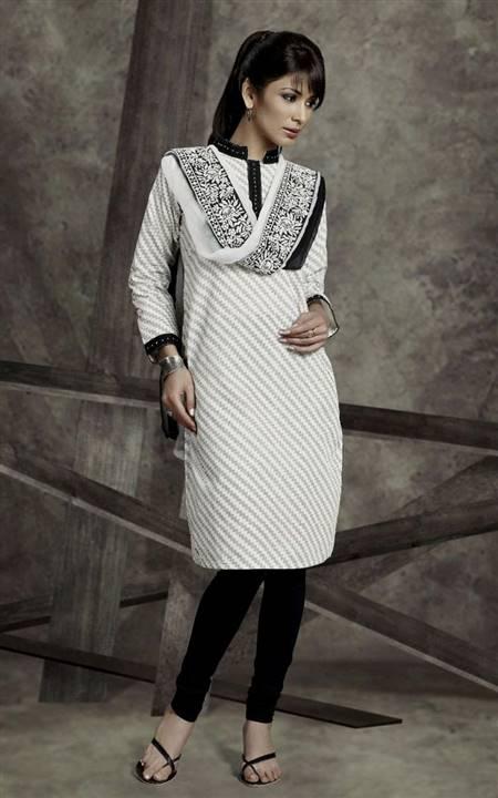 plain white punjabi dress