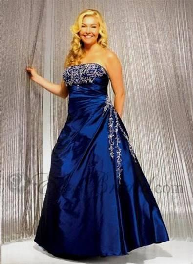plus size wedding dresses with blue