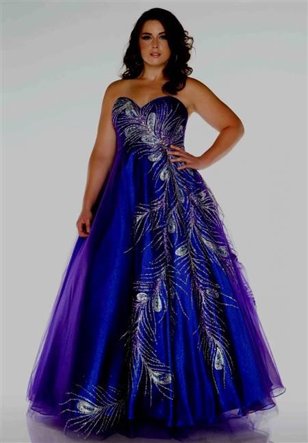 plus size wedding dresses with purple   B2B Fashion