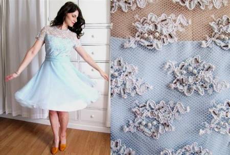 powder blue cocktail dress