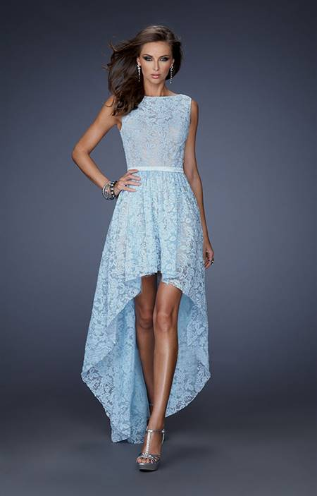 powder blue cocktail dress