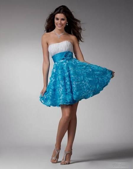 pretty blue dresses for teenage girls