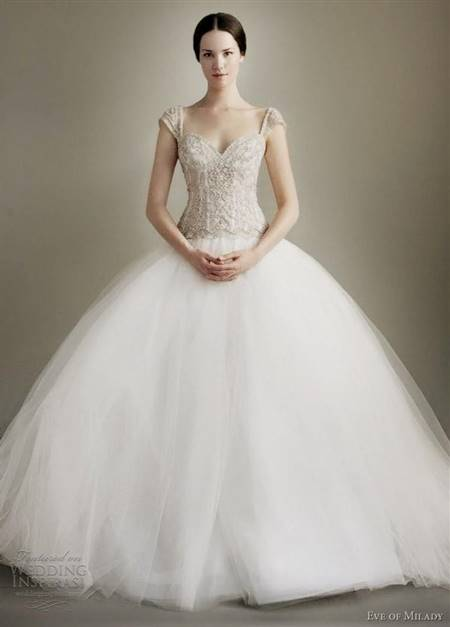 princess ball gown wedding dresses with sleeves