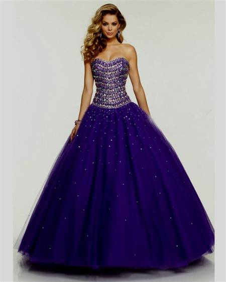 princess dresses for prom purple