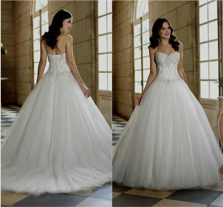 princess wedding dress with bling