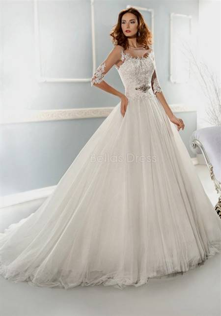 princess wedding dress with sleeves