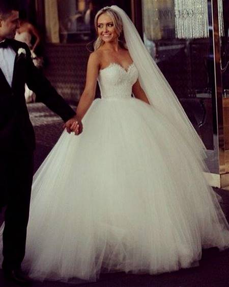 princess wedding dresses with lace back