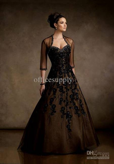 prom ball gowns black and white