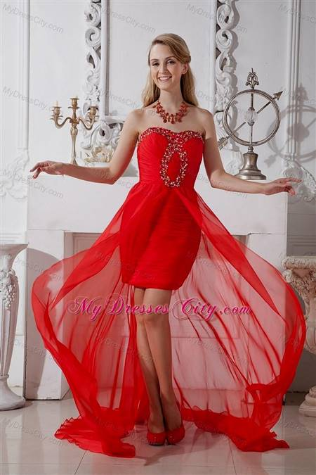 prom cocktail dresses red