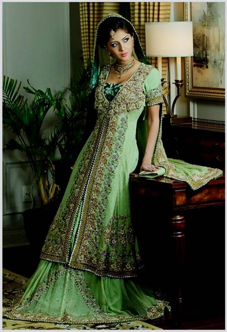 punjabi wedding dress green