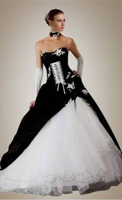purple and black and white wedding dresses