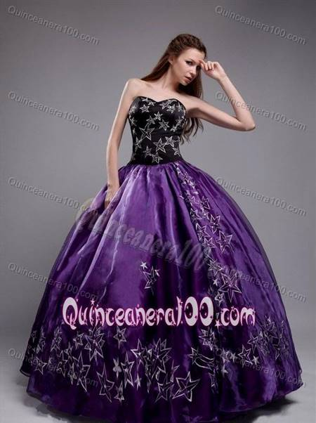purple and black ball gown