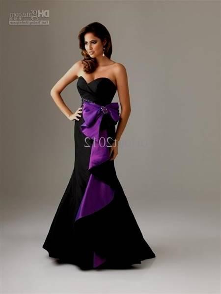 purple and black bridesmaid dresses