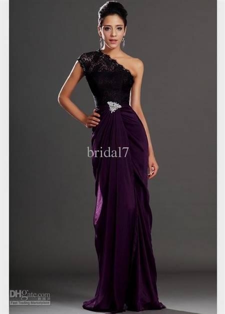 purple and black lace bridesmaid dresses