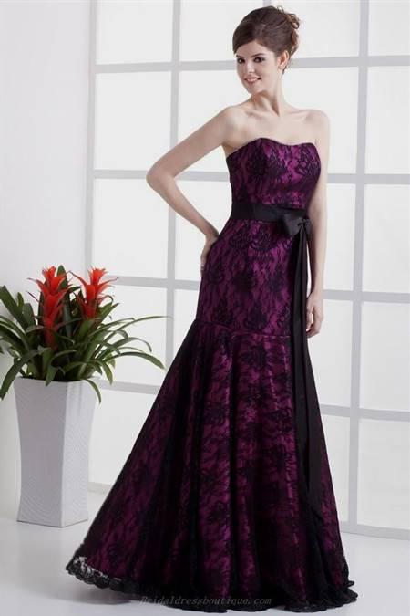 purple and black lace dress