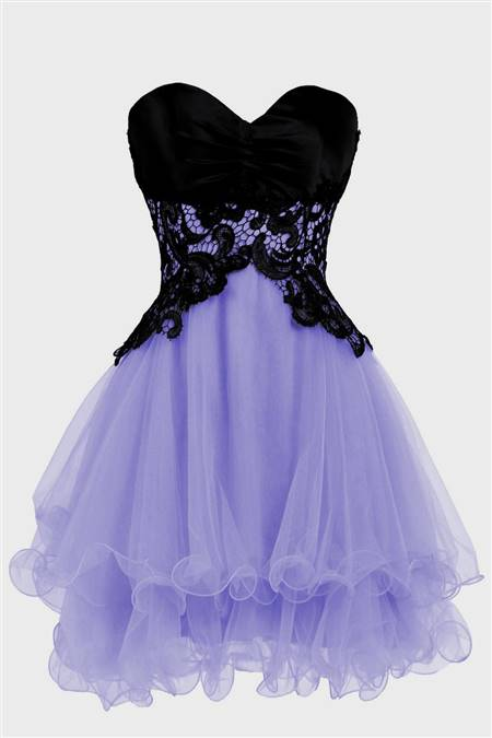 purple and black short dress