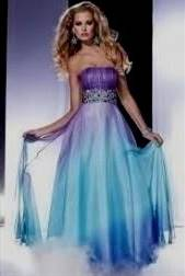 purple and blue bridesmaid dresses
